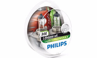 Лампа Philips H4 12V 60/55W LongLife EcoVision (2 шт.)